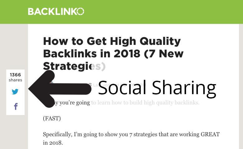 Social sharing example